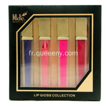 6 pièces lip gloss collection